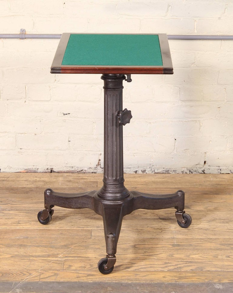 American Rolling Pedestal Table 1930s