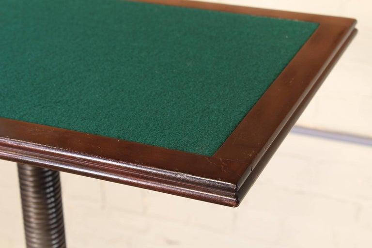 Felt Rolling Pedestal Table 1930s