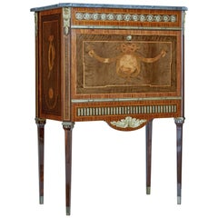 1930s Kingwood Inlaid Swedish Marble Top Secrétaire