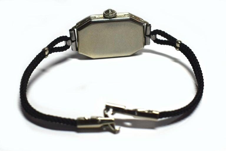 1930s Ladies Art Deco Enamel Waltham Wristwatch For Sale 1
