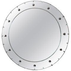 1930s Large Art Deco Circular Mirror