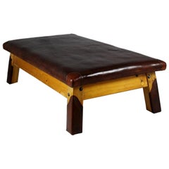 1930s Large Leather Gym Table/Daybed