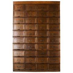 1930s Large Tall Multi Drawer Stolzenberg Atelier Cabinet, Forty Drawers