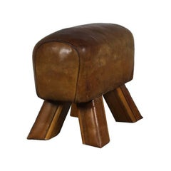 1930s Leather Gym Stool