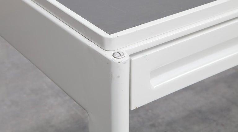 1930s Light Grey Steel Desk by Jean Prouvé For Sale 5