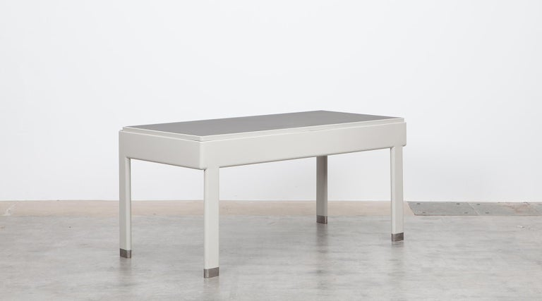 Mid-20th Century 1930s Light Grey Steel Desk by Jean Prouvé For Sale