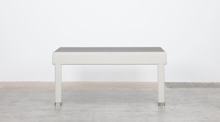 1930s Light Grey Steel Desk by Jean Prouvé For Sale 1