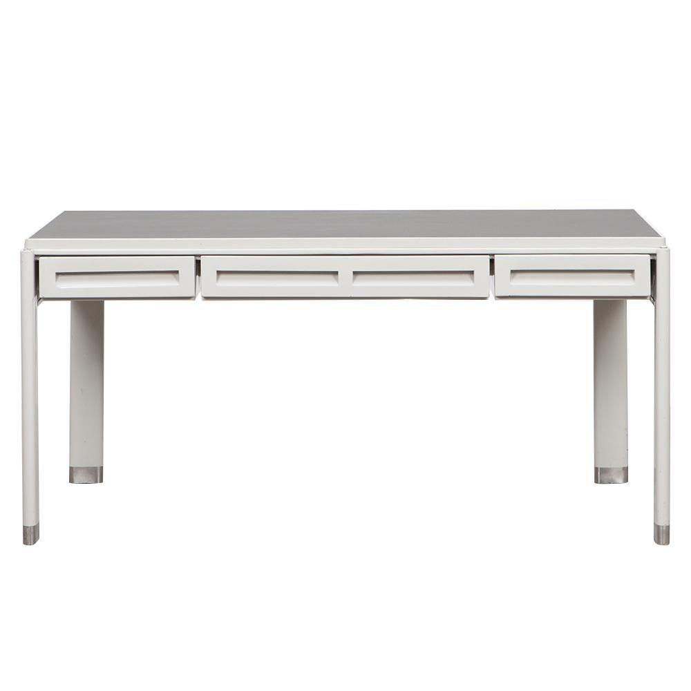 1930s Light Grey Steel Desk by Jean Prouvé