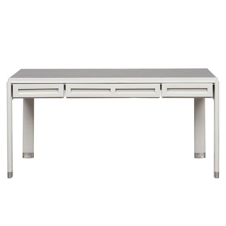 1930s Light Grey Steel Desk by Jean Prouvé For Sale