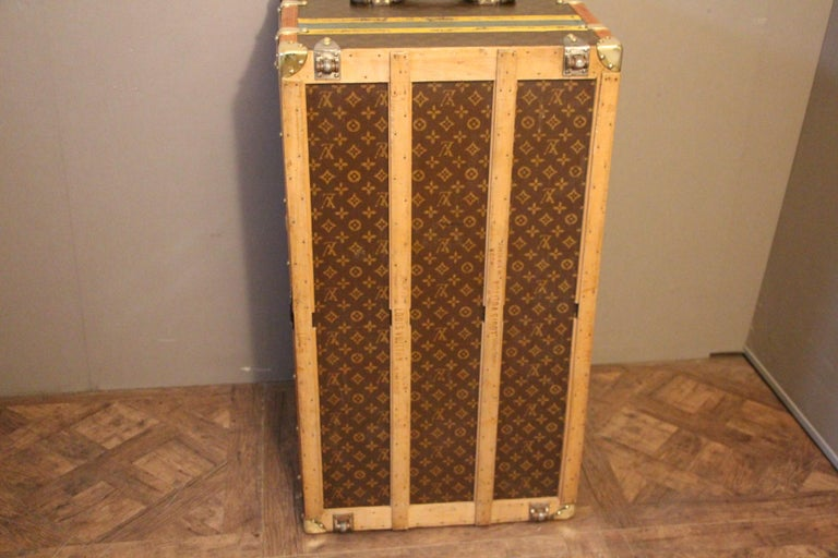1930s Louis Vuitton Monogram Steamer Trunk, Malle Louis Vuitton For Sale 13