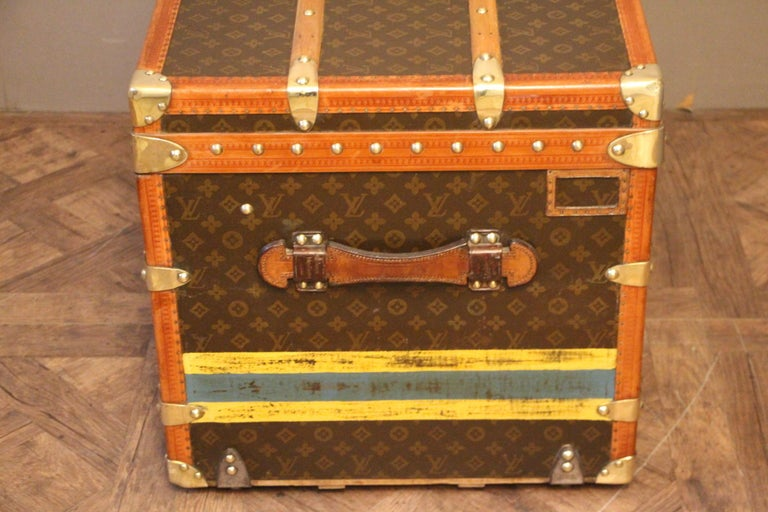1930s Louis Vuitton Monogram Steamer Trunk, Malle Louis Vuitton For Sale 1