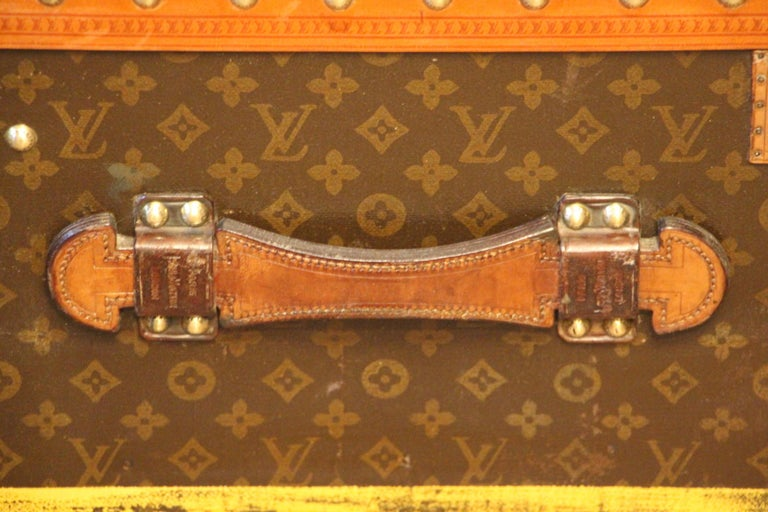 1930s Louis Vuitton Monogram Steamer Trunk, Malle Louis Vuitton For Sale 2