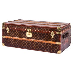 1930s Louis Vuitton Stencil Monogram Cabin Trunk