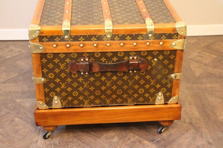 1930s Louis Vuitton Stenciled Monogram Cabin Steamer Trunk, Louis Vuitton Trunk For Sale 4