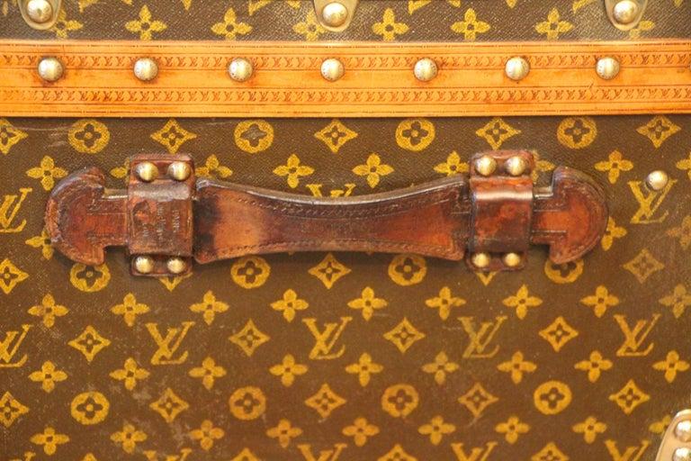1930s Louis Vuitton Stenciled Monogram Cabin Steamer Trunk, Louis Vuitton Trunk For Sale 5