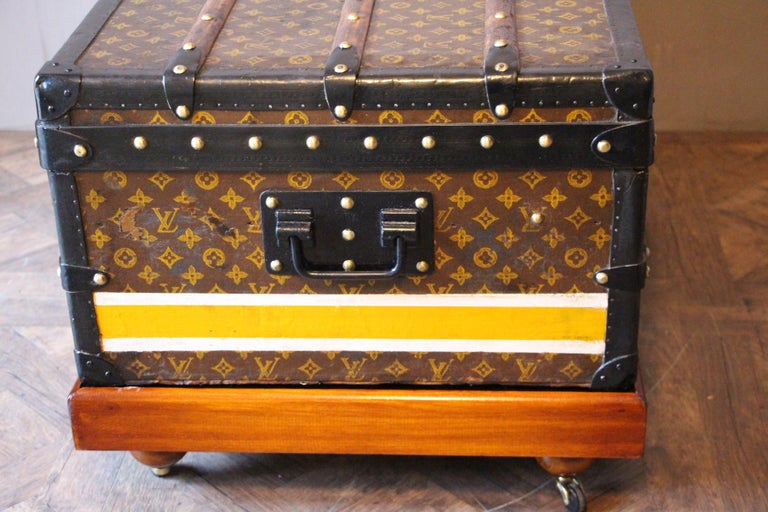 1930s Louis Vuitton Stenciled Monogram Cabin Steamer Trunk, Louis Vuitton Trunk For Sale 6