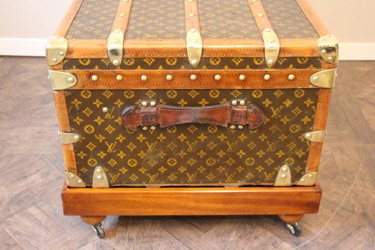 1930s Louis Vuitton Stenciled Monogram Cabin Steamer Trunk, Louis Vuitton Trunk For Sale 7