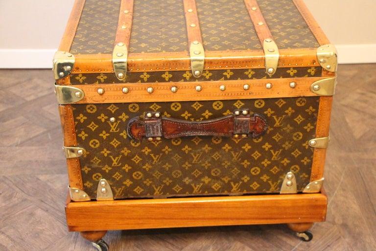 1930s Louis Vuitton Stenciled Monogram Cabin Steamer Trunk, Louis Vuitton Trunk For Sale 8