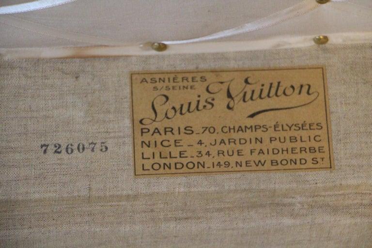 1930s Louis Vuitton Stenciled Monogram Cabin Steamer Trunk, Louis Vuitton Trunk For Sale 10
