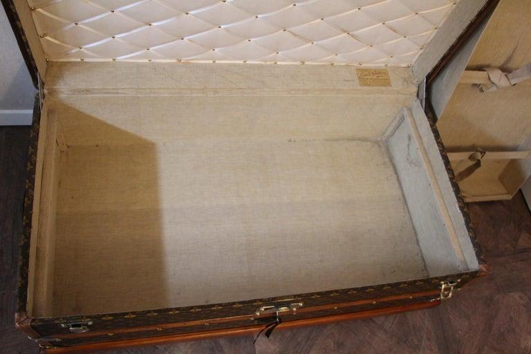1930s Louis Vuitton Stenciled Monogram Cabin Steamer Trunk, Louis Vuitton Trunk For Sale 11