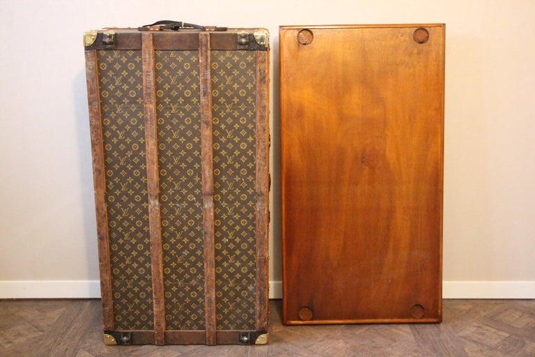 1930s Louis Vuitton Stenciled Monogram Cabin Steamer Trunk, Louis Vuitton Trunk For Sale 13