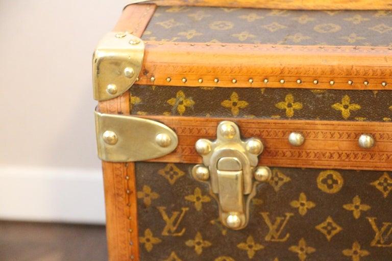 French 1930s Louis Vuitton Stenciled Monogram Cabin Steamer Trunk, Louis Vuitton Trunk For Sale