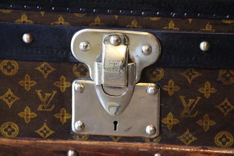 Mid-20th Century 1930s Louis Vuitton Stenciled Monogram Cabin Steamer Trunk, Louis Vuitton Trunk For Sale