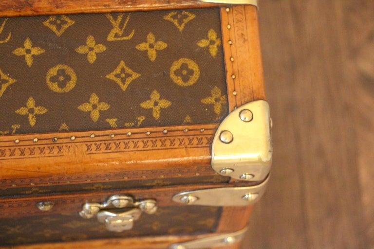 1930s Louis Vuitton Stenciled Monogram Cabin Steamer Trunk, Louis Vuitton Trunk For Sale 1