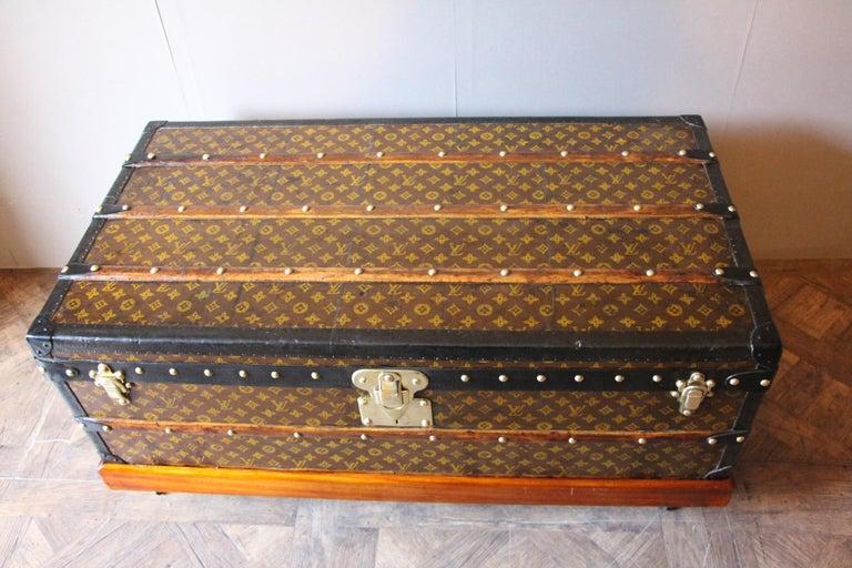 1930s Louis Vuitton Stenciled Monogram Cabin Steamer Trunk, Louis Vuitton Trunk For Sale 2