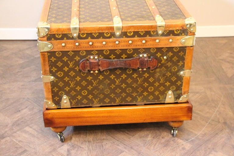 1930s Louis Vuitton Stenciled Monogram Cabin Steamer Trunk, Louis Vuitton Trunk For Sale 3