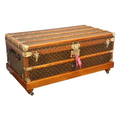1930s Louis Vuitton Stenciled Monogram Cabin Steamer Trunk, Louis Vuitton Trunk