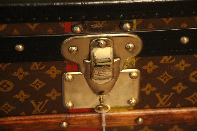 1930s Louis Vuitton Trunk in Monogram Canvas, Louis Vuitton Steamer Trunk 11