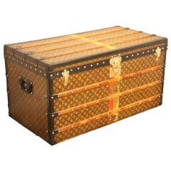 1930s Louis Vuitton Trunk in Monogram Canvas, Louis Vuitton Steamer Trunk