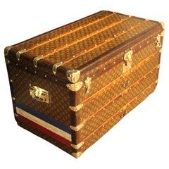 1930's Louis Vuitton Trunk, Louis Vuitton Courrier Steamer Trunk