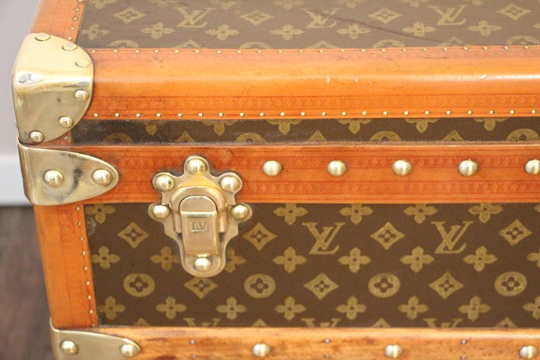 French 1930s Louis Vuitton Trunk, Louis Vuitton Steamer Trunk 1 For Sale