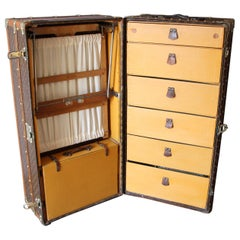 1930s Louis Vuitton Wardrobe Trunk, Vuitton Trunk, Louis Vuitton Steamer Trunk