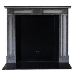 1930s Louis XV Petite French Gray & White Marble Mantel from the Waldorf Astoria