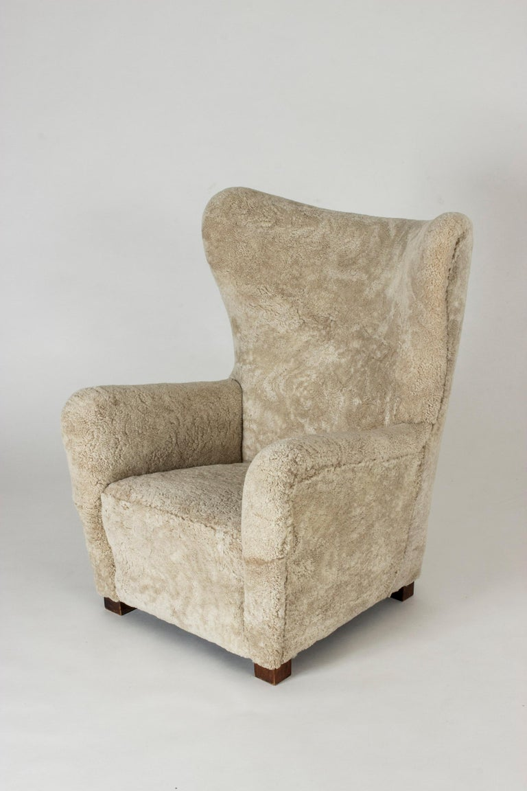1930s Lounge Chair from Fritz Hansen In Good Condition For Sale In Stockholm, SE