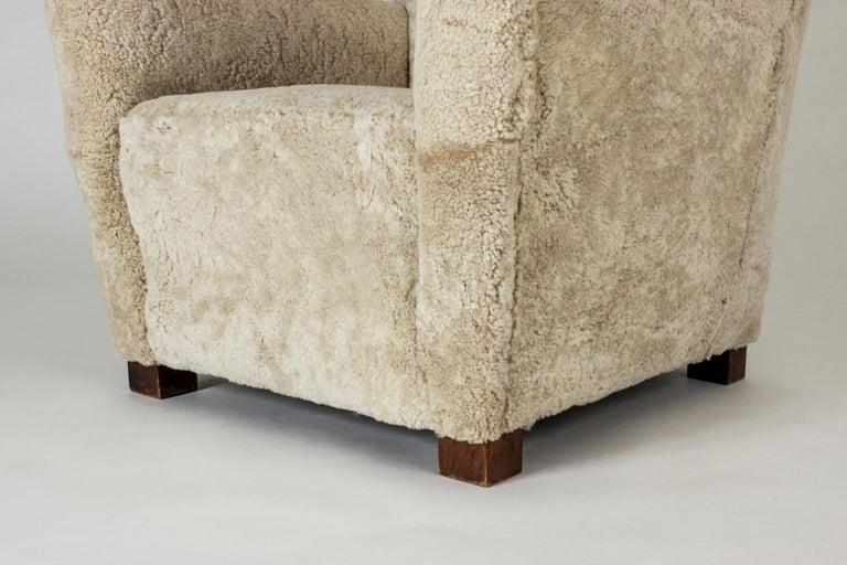 Sheepskin 1930s Lounge Chair from Fritz Hansen For Sale