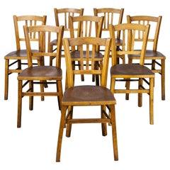 1930's Luterma Embossed Seat Bentwood Dining Chair, Set of Eight