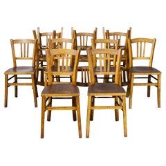 1930's Luterma Embossed Seat Bentwood Dining Chair, Set of Twelve