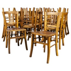 1930's Luterma Embossed Seat Bentwood Dining Chair, Various Qty Available