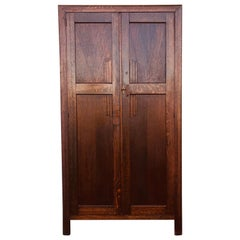 1930s, Mahogany and Oak Harrison Gibson Ltd Gentleman's Wardrobe