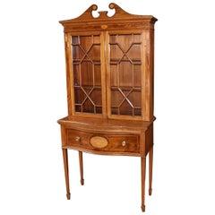 1930s Mahogany Sheraton Style Display Cabinet