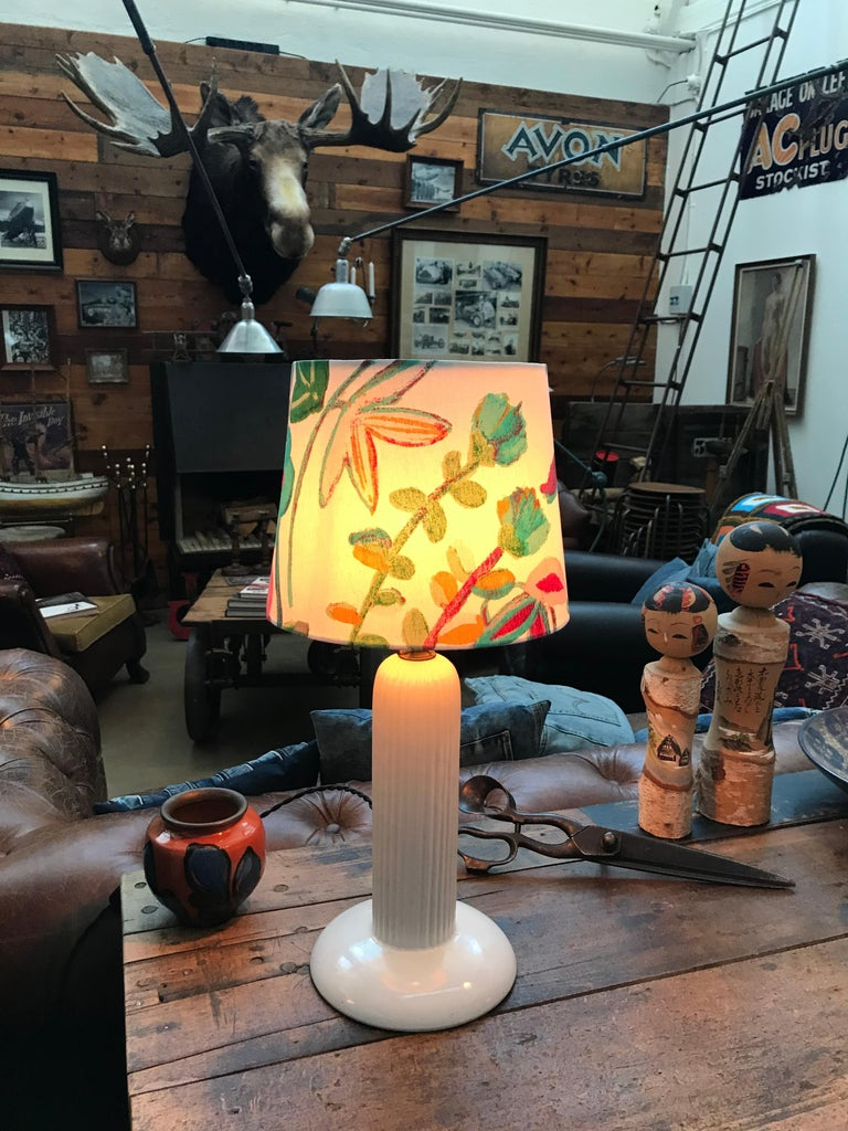 1930s Michael Andersen Ceramic Table Lamp with an ArtbyMaj Lampshade 2