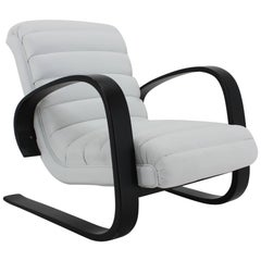 1930s Miroslav Navratil Lounge Chair in White Leather