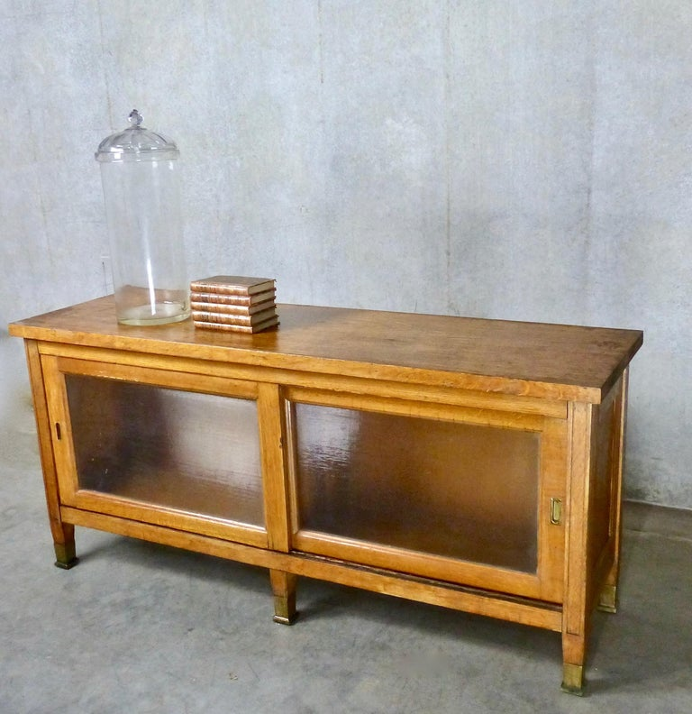 Kitchen Cabinets Surrey Bc: 1930s Mission-Style Oak Mercantile Cabinet With Sliding
