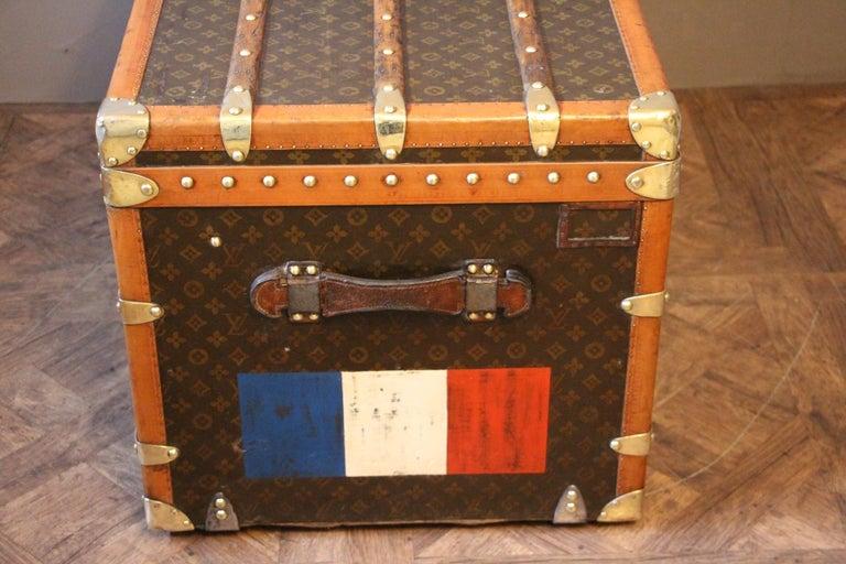 1930s Monogram Louis Vuitton Trunk For Sale 4