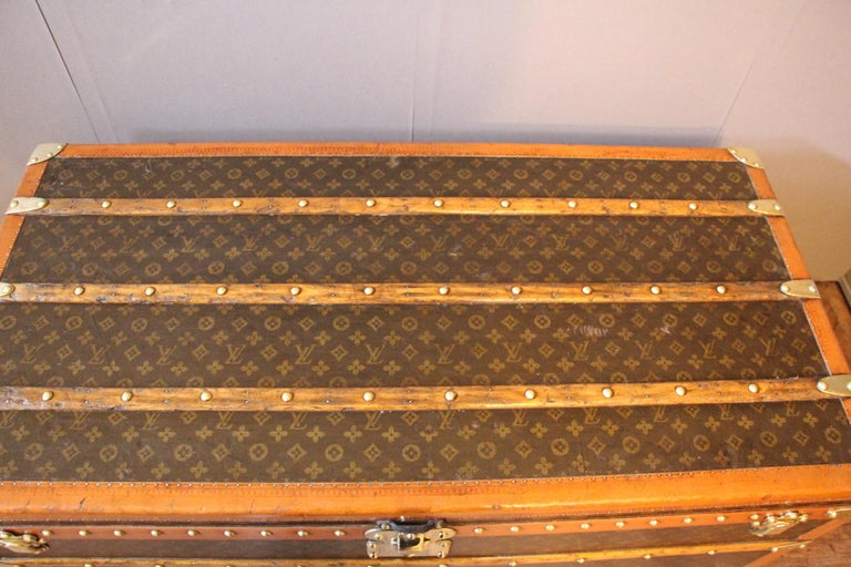 French 1930s Monogram Louis Vuitton Trunk For Sale