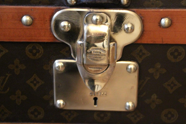 Mid-20th Century 1930s Monogram Louis Vuitton Trunk For Sale